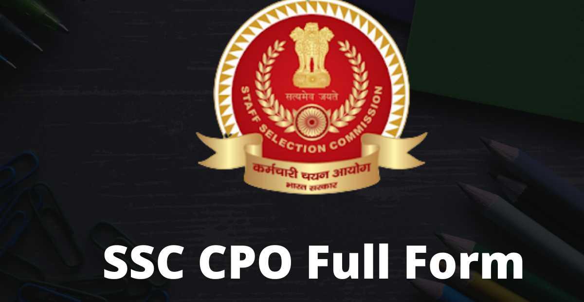 ssc cpo full form hindi
