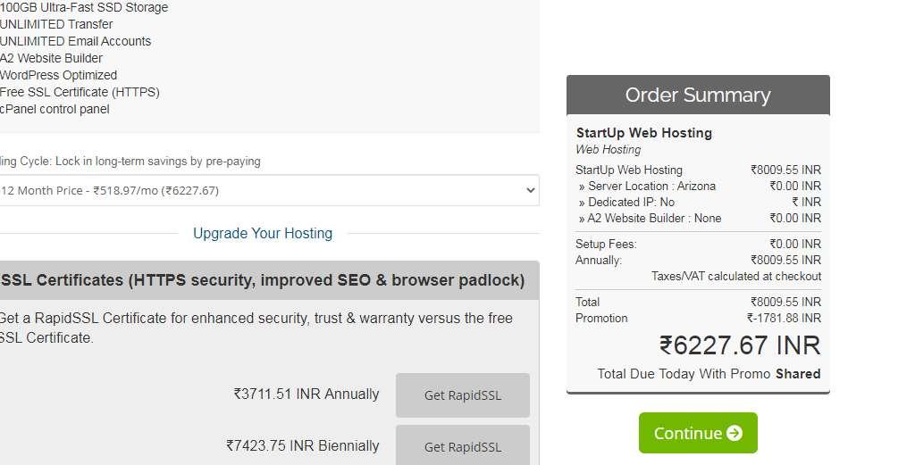 A2hosting buy kare